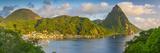 Caribbean, St Lucia, Soufriere, Soufriere Bay, Petit Piton (UNESCO World Heritage Site) Photographic Print by Alan Copson