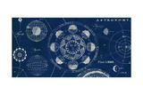 Blueprint Astronomy Giclee Print by Sue Schlabach