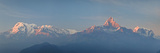 Nepal, Pokhara, Sarangkot, Panoramic View of Annapurna Himalaya Mountain Range Photographic Print by Michele Falzone