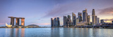 Michele Falzone - Singapore, Marina and City Skyline Fotografická reprodukce