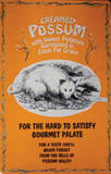 Creamed Possum Tin Sign Tin Sign