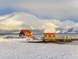 Colourful Fishing Huts, Sommarøoy, Troms Region, Norway Photographic Print by Gavin Hellier