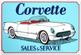 Corvette Tin Sign Tin Sign
