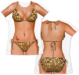 Womans: Leopard Bikini Costume Tee T-shirts