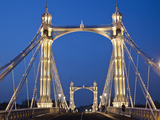 England, London, Chelsea, Albert Bridge Photographic Print by Steve Vidler