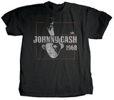 Johnny Cash - Smokin' T-shirts by Jim Marshall