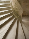 France, Loire Valley, Chambord Castle, the Chapel Wing Staircase Photographic Print by Steve Vidler