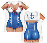 Womans: Sailor Girl Costume Tee T-skjorter