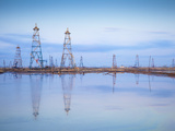 Azerbaijan, Abseron Peninsula, Oil Fields Photographic Print by Jane Sweeney