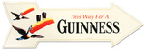 Guinness Arrow Tin Sign Placa de lata