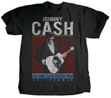 Johnny Cash - One More Song (premium) T-shirts by Jim Marshall