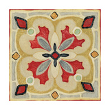Bohemian Rooster Tile Square III Giclee Print by Daphne Brissonnet