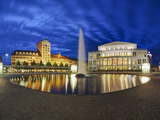 Opera House, Augustus Square, Leipzig, Saxony, Germany Photographic Print by Gavin Hellier