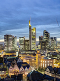 City Skyline, Frankfurt-am-Main, Hessen, Germany Photographic Print by Gavin Hellier