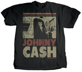 Johnny Cash - Off the Bus (premium) T-shirts by Jim Marshall