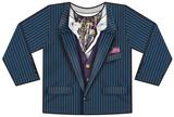 Toddler Long Sleeve: Pin Stripe Suit Costume Tee Koszulki
