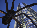 Japan, Tokyo, Roppongi, Mori Tower and Maman Spider Sculpture Photographic Print by Steve Vidler