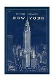 Blueprint Map New York Chrysler Building Reproduction procédé giclée par Sue Schlabach