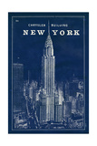 Blueprint Map New York Chrysler Building Giclee Print by Sue Schlabach
