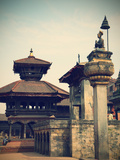 Durbar Square, Bhaktapur (UNESCO World Heritage Site), Kathmandu Valley, Nepal Photographic Print by Ian Trower