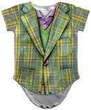 Infant: Plaid Suit Costume Romper Strampelanzug