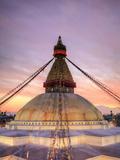 Nepal, Kathmandu, Bodhnath (Boudha) Stupa Photographic Print by Michele Falzone