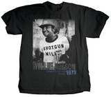 Willie Nelson - Shotgun Willie T-shirts by Jim Marshall