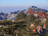 India, Himachal Pradesh, Shimla, View of Shimla Photographic Print by Jane Sweeney