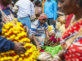 Flower Market, Kolkata (Calcutta), India Photographic Print by Peter Adams