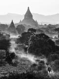 Bagan at Sunset, Mandalay, Burma (Myanmar) Photographie par Nadia Isakova