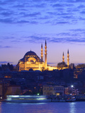 Suleymaniye Mosque at Dusk, Istanbul, Turkey Photographic Print by Neil Farrin