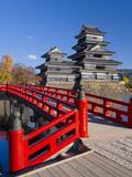 Japan, Central Honshu (Chubu), Nagano Prefecture, Matsumoto, Matsumoto-jo (Matsumoto Castle) Photographic Print by Gavin Hellier