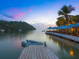 Caribbean, St Lucia, Marigot, Marigot Bay, Marigot Bay Beach Club Hotel, Doolittle's Restaurant Photographic Print by Alan Copson