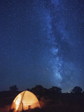 USA, Arizona, Campground on Hunts Mesa and Milky Way Photographic Print by Michele Falzone