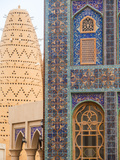 Qatar, Doha, Katara Cultural Village, Katari Mosque and Pigeon Tower Fotografiskt tryck av Jane Sweeney