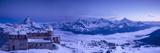 Gornergrat Kulm Hotel and Matterhorn, Zermatt, Valais, Switzerland Stampa fotografica di Jon Arnold