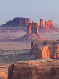 Michele Falzone - USA, Arizona, View Over Monument Valley from the Top of Hunt's Mesa Fotografická reprodukce