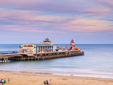 UK, England, Dorset, Bournemouth, West Cliff Beach,Main Pier Photographic Print by Alan Copson