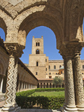 Cloister, Cathedral of Monreale, Sicily, Italy Photographic Print by Katja Kreder