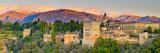 Spain, Andalucia, Granada Province, Granada, Alhambra Palace and Sierra Nevada Mountains Fotografie-Druck von Alan Copson