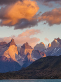 Chile, Magallanes Region, Torres Del Paine National Park, Lago Pehoe, Dawn Landscape Photographic Print by Walter Bibikow