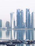 Qatar, Doha, Looking Across Doha Bay To Skyscrapers of West Bay Photographic Print by Jane Sweeney