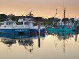 UK, England, Dorset, Lymington, the Quay on Lymington River, Fishing Boats Photographic Print by Alan Copson