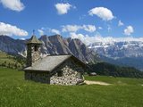 Church, Seceda, Val Gardena,  Trentino, South Tyrol, Italy Photographic Print by Katja Kreder