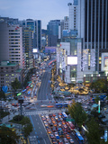 Busy Namdaemun-ro at Dusk in Myeong-dong, Myeongdong, Seoul, South Korea Photographic Print by Gavin Hellier