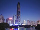 Kingkey 100 Finance Building, Shenzhen, Guangdong, China Photographic Print by Ian Trower