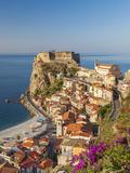 Town View With Castello Ruffo, Scilla, Calabria, Italy Fotodruck von Peter Adams