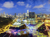 South East Asia, Singapore, View Over Entertainment District of Clarke Quay Photographic Print by Gavin Hellier