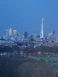 The Shard, Canary Wharf and London Skyline Above Hyde Park, London, England, UK Photographic Print by Jon Arnold