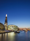 England, London, Southwark, River Thames and London Skyline at Sunset Photographic Print by Steve Vidler